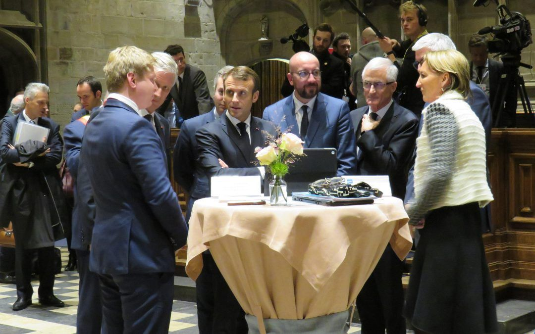 Urban Crop Solutions presents its technology to the Belgian King Filip and the French President Macron