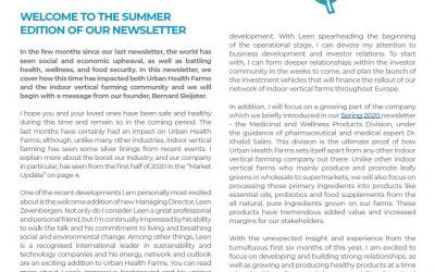 Newsletter – Summer 2020 Edition
